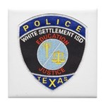White Settlement ISD PD Tile Coaster