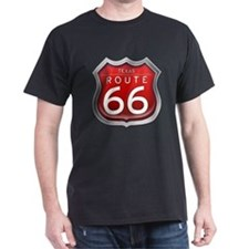 Texas Route 66 - Red T-Shirt
