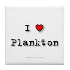 I Love Plankton Tile Coaster