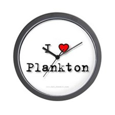 I Love Plankton Wall Clock