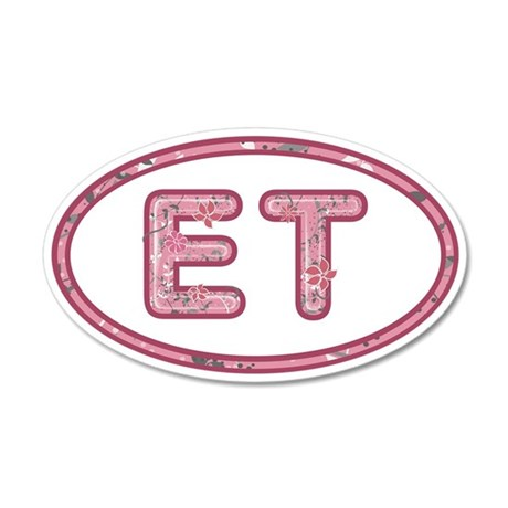 ET Pink 35x21 Oval Wall Decal