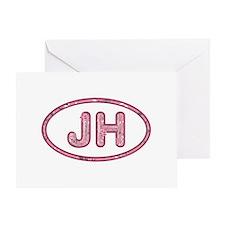 JH Pink Greeting Card