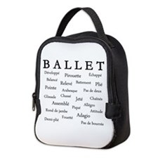 Ballet Words Neoprene Lunch Bag