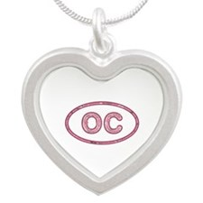 OC Pink Silver Heart Necklace