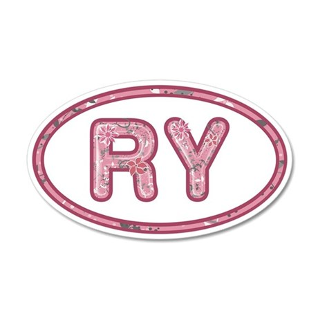 RY Pink 35x21 Oval Wall Decal