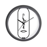 Samir in Black Wall Clock