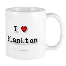 I Love Plankton Small Mug