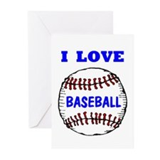 LOVE BASEBALL Greeting Cards (Pk of 10)