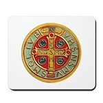 Mousepad with Needlework St. Benedict's Medal