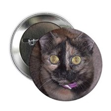 "Tort Calico 2.25"" Button (100 pack)"