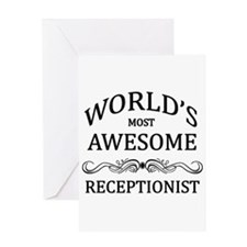 World's Most Awesome Receptionist Greeting Card