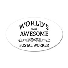 World's Most Awesome Postal Worker Wall Decal