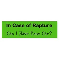 In Case of Rapture - Bumper Sticker