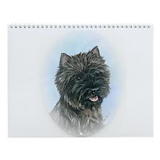 Ann Priddy CAIRN TERRIER Art Wall Calendar