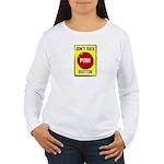 Don't Suck Button Women's Long Sleeve T-Shirt