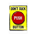 Don't Suck Button Rectangle Sticker