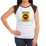 Don't Suck Button Women's Cap Sleeve T-Shirt