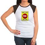 Don't Suck Button Women's Cap Sleeve T-Shirt