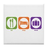 Eat Sleep Travel Tile Coaster