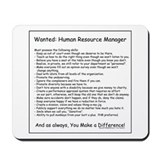 Wanted: HR Manager Mousepad