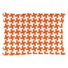 Retro Houndstooth Vintage Orange Pillow Case