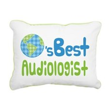 Earths Best Audiologist Rectangular Canvas Pillow