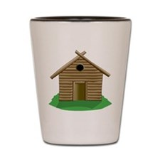 Log Cabin Shot Glass