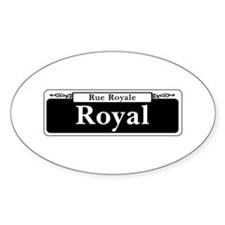 Royal St., New Orleans - USA Oval Decal