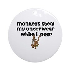 Monkeys steal my... Ornament (Round)
