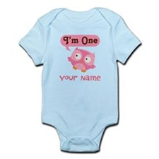 Cute Personalized 1st Birthday Owl Body Suit