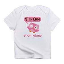 Cute Personalized 1st Birthday Owl Infant T-Shirt