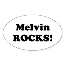 Melvin Rocks! Oval Decal
