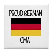 Proud German Oma Tile Coaster