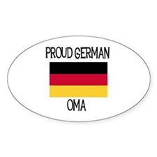 Proud German Oma Oval Decal