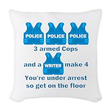 Castle TV Under Arrest Woven Throw Pillow