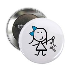 "Girl & Ice Skating 2.25"" Button (10 pack)"