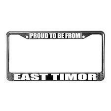 East Timor License Plate Frame