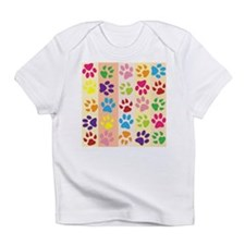 Colored Paw Prints Infant T-Shirt