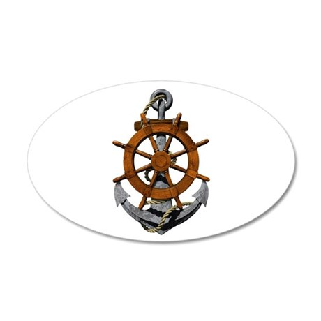 Ship Wheel And Anchor Wall Decal