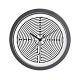 Chartres Labyrinth Wall Clock