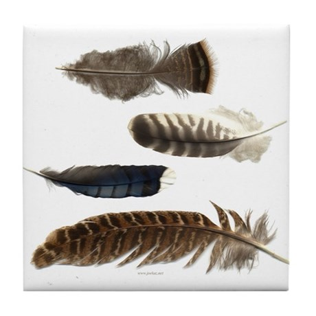 Feathers Tile Coaster