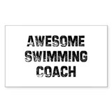 Awesome Swimming Coach Rectangle Decal