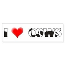 I Heart Cows Bumper Bumper Sticker