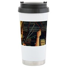 Vintage Switchboard Operator Ceramic Travel Mug