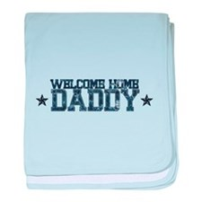 Welcome Home NAVY Daddy baby blanket