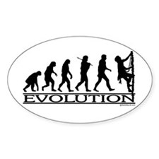 Evolution (Climbing) Oval Decal