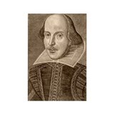 William Shakespeare Rectangle Magnet (100 pack)