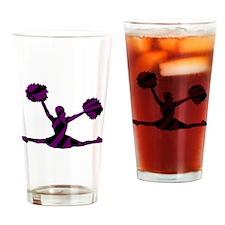 CHEERLEADER-3zebra2 Drinking Glass