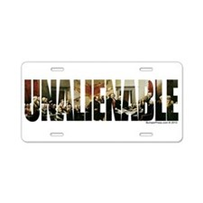Unalienable 1776 Aluminum License Plate
