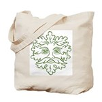 Weathered GreenMan Tote Bag
